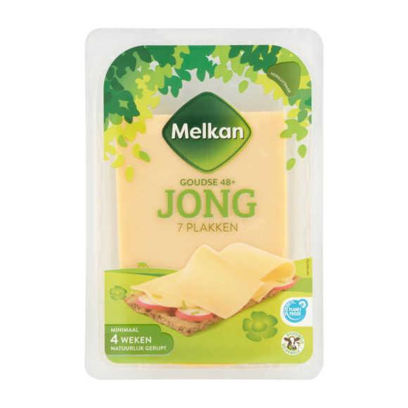 Melkan Goudse Kaas 48+ Jong 7 Plakken 190 g product photo