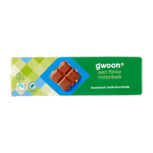 g'woon Chocoladereep melk hazelnoot product photo