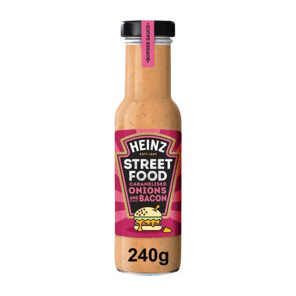 Heinz Streetfood Gekarameliseerde uien en bacon saus 235 ml product photo