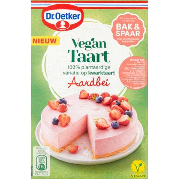 Dr. Oetker Vegan taart aardbei product photo