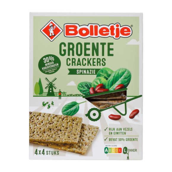 Bolletje Groente Crackers Spinazie 4 x 4 Stuks 200 g product photo