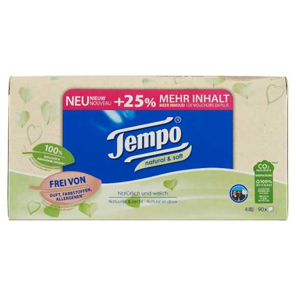 Tempo Tissues natural & soft 4 laags product photo