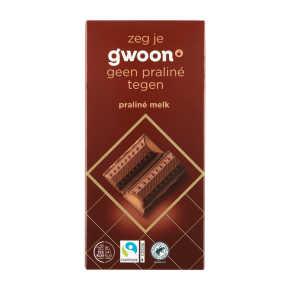 g'woon Praliné Melk 200 g product photo