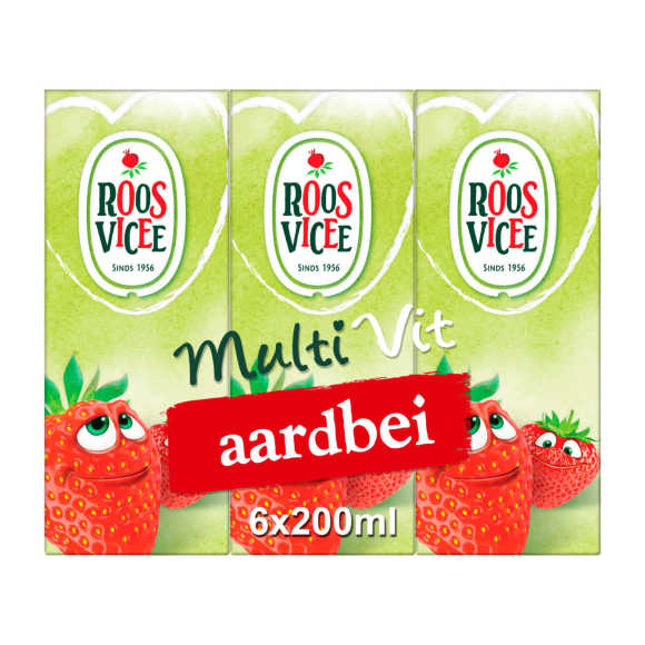 Roosvicee Fruit drankje aardbei mini product photo