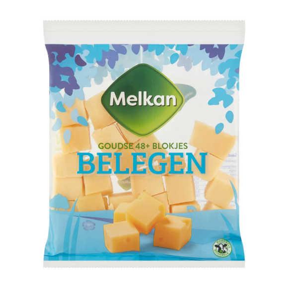 Melkan Goudse 48+ Kaas Blokjes Belegen 200 g product photo