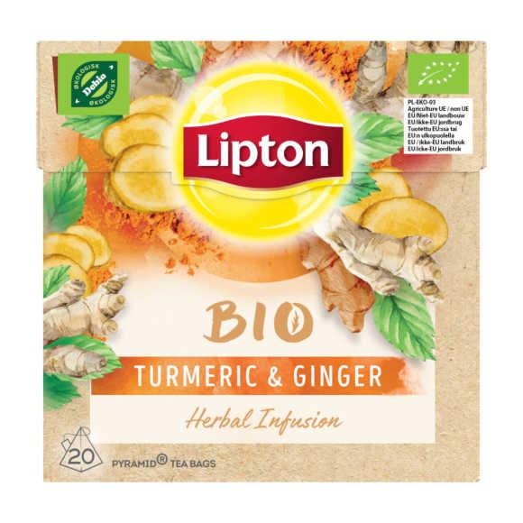 Lipton Organic tumeric en ginger product photo
