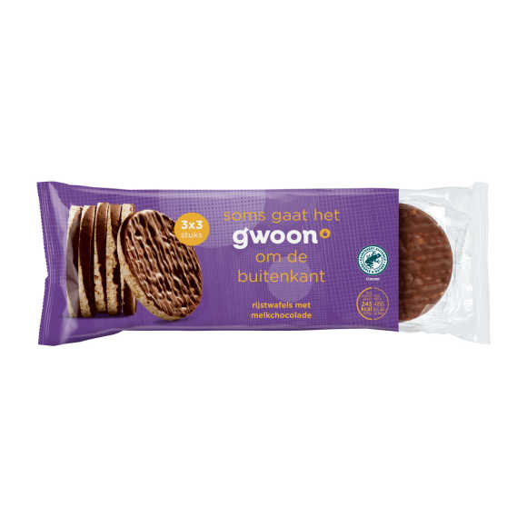 G'woon Rijstwafels chocolade product photo