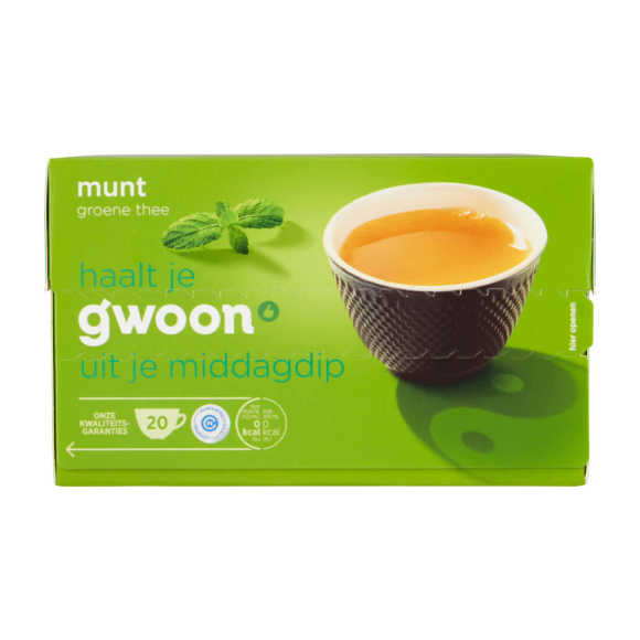 g'woon Groene thee munt product photo