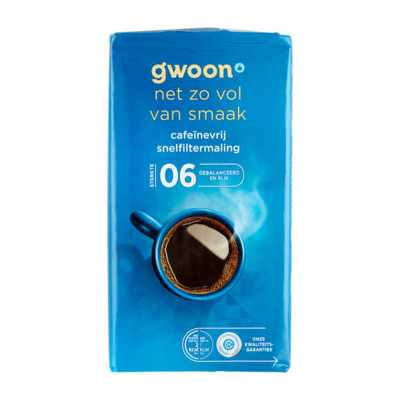 g'woon Snelfilter cafeïnevrij product photo