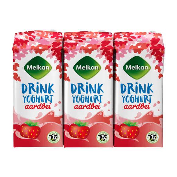 Melkan Drinkyoghurt aardbei product photo