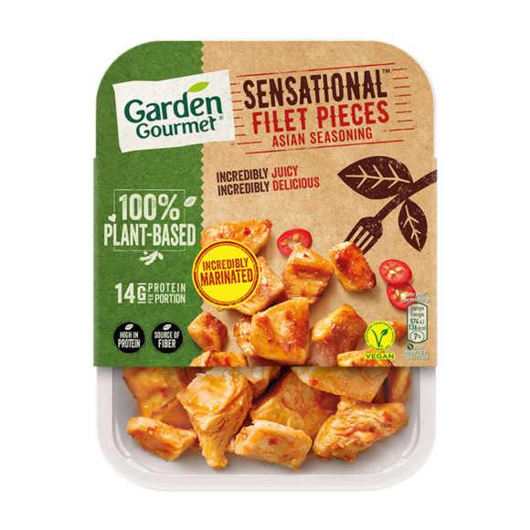 Garden Gourmet Sensational Filet Pieces Asian Seasoning 160 g product photo
