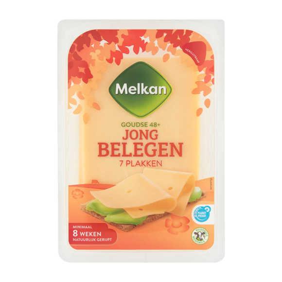 Melkan Goudse 48+ Jong Belegen 7 Plakken 190 g product photo