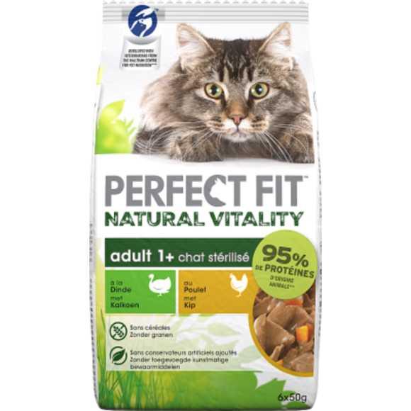 Perfect Fit Maaltijdzakjes - Kalkoen & kip - Natural Vitality - Kattenvoer - 6 x 50 g product photo