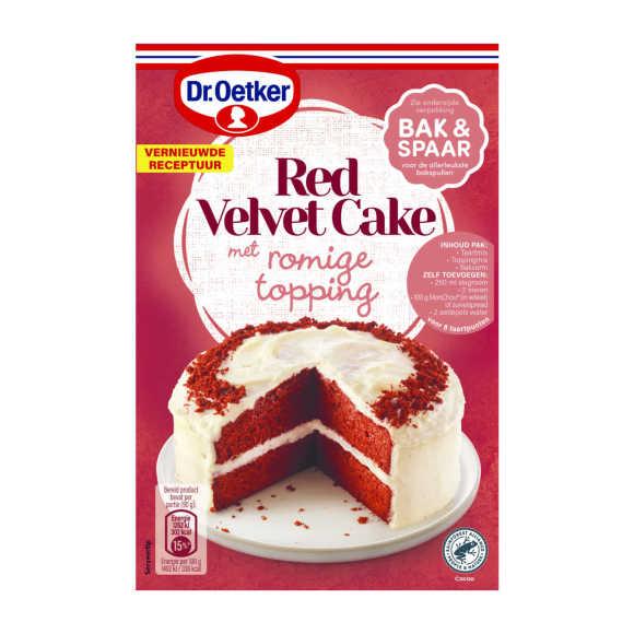 Dr. Oetker Verwen red velvet cake product photo