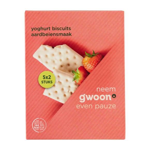 g'woon Yoghurt biscuit aardbei product photo