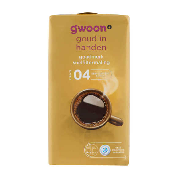 g'woon Snelfilter goud product photo