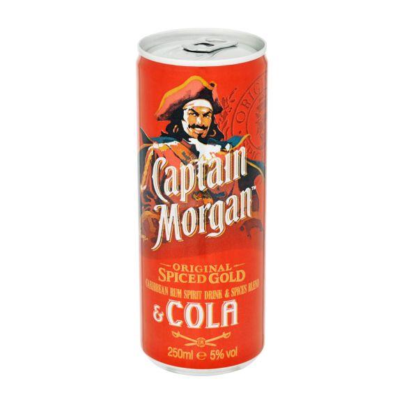Captain Morgan & cola blik product photo