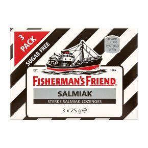Fisherman's Friend salmiak sterke salmiak lozenges suikervrij 3-pack product photo