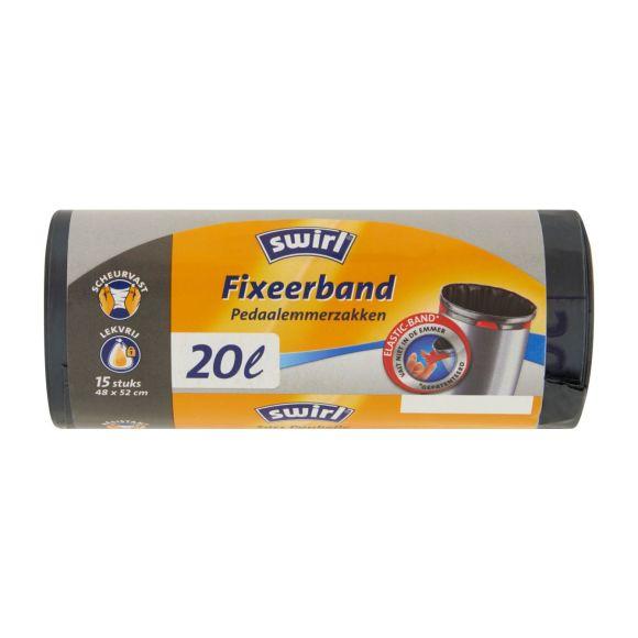 Swirl Afvalzakken 20 liter Fixeerband  15 stuks product photo