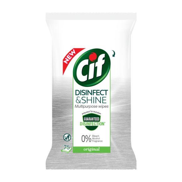 Cif Desinfect & Shine doekjes product photo