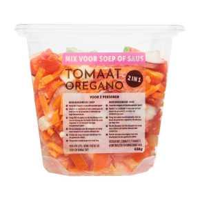 Pureersoep tomaat oregano product photo