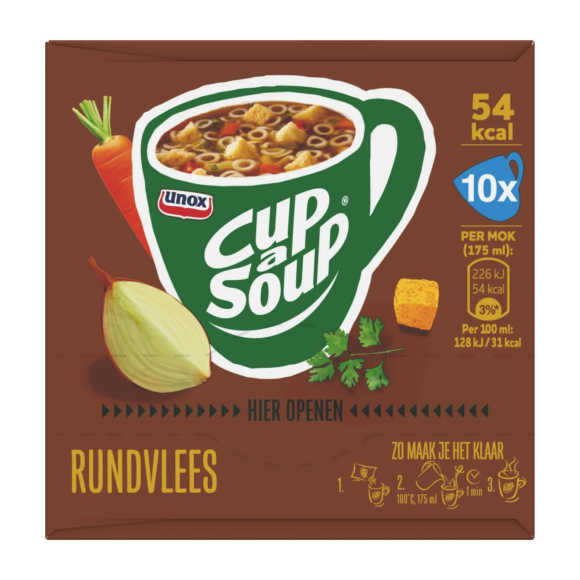 Unox Cup a soup rundvlees 10 pack product photo