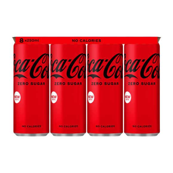 Coca-Cola Zero blik 8 x 250 ml product photo