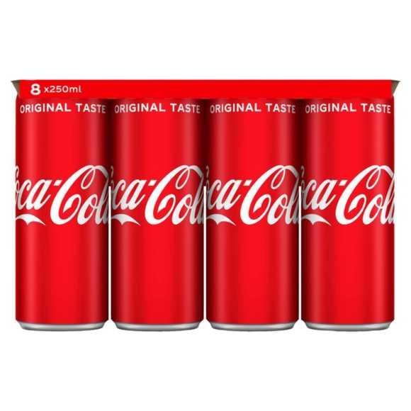 Coca-Cola Original taste 8 x 250 ml product photo