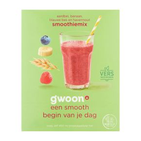 g'woon Smoothiemix havermout/aardbei/banaan product photo