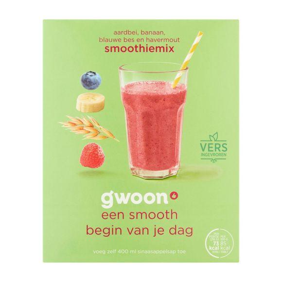 g'woon Smoothiemix havermout/aardbei/banaan product photo