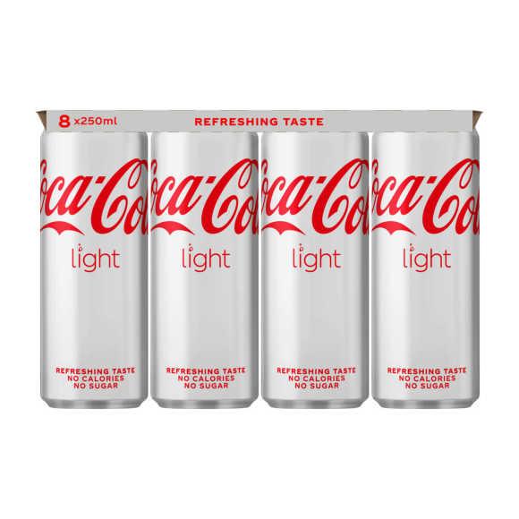 Coca-Cola Light blik 8 x 250 ml product photo