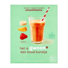 g'woon Smoothiemix Banaan, mango, aardbei product photo