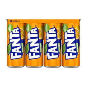 Fanta Orange blik 8 x 250 ml product photo