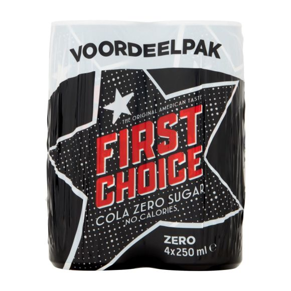 First Choice Cola zero sugar fles 4x250ml product photo