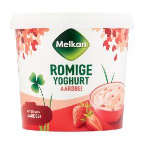 Melkan Roomyoghurt aardbei product photo