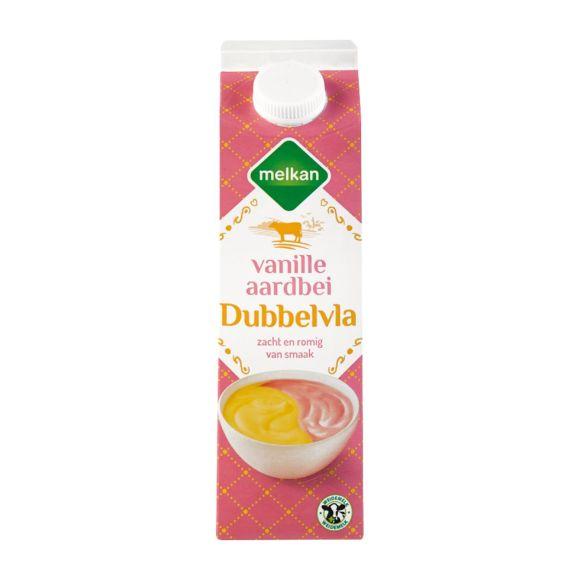 Melkan Vanille aardbei dubbelvla product photo
