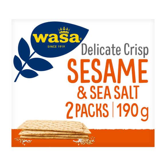 Wasa Delicate crisp sesame sea salt product photo