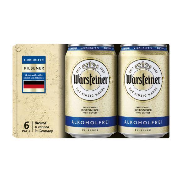Warsteiner Pils 0.0% bier blik product photo