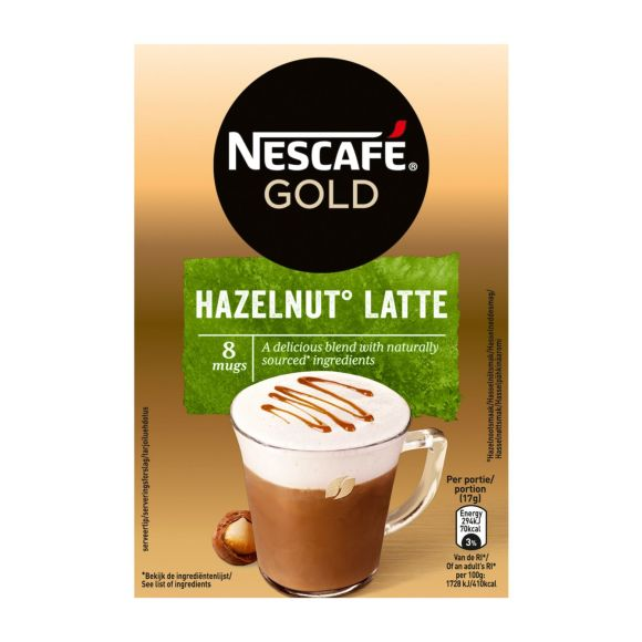 Nescafé Hazelnut latte product photo