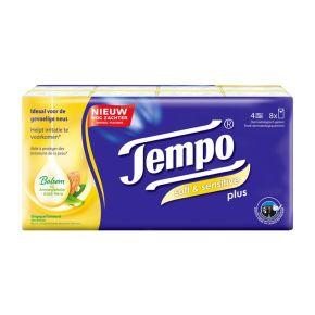 Tempo Plus Soft & Sensitive 4-Laags Zakdoeken 8 x 9 Stuks product photo