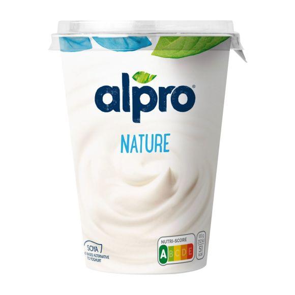 Alpro plantaardige variatie op yoghurt naturel product photo