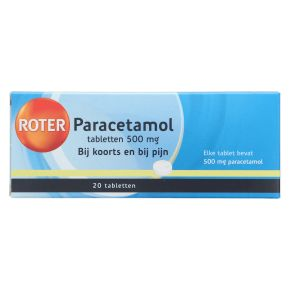 Roter Paracetamol tabletten 500 mg product photo