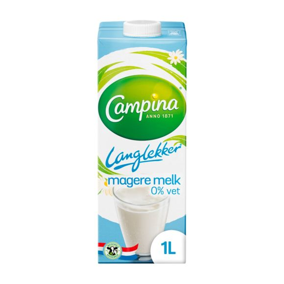 Campina Melk 0.0% vet houdbaar product photo