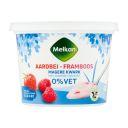 Melkan Magere kwark aardbei framboos product photo