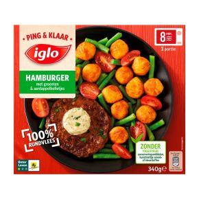 Iglo Ping & Klaar hamburger product photo