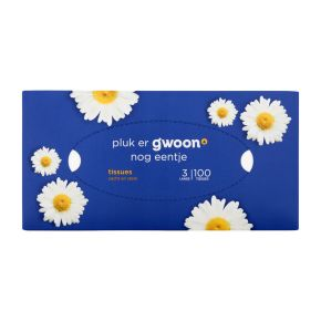 g'woon Tissues 3-laags 100 stuks product photo