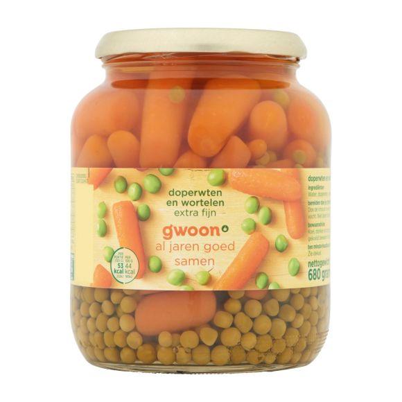 g'woon Doperwten en wortelen extra fijn product photo