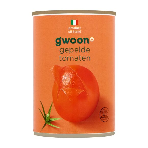 g'woon Gepelde tomaten op sap product photo