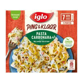 Iglo Ping & Klaar pasta carbonara product photo