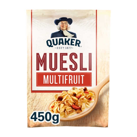 Quaker Havermout muesli multifruit product photo